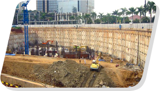 Diaphragm wall at Noida